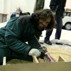 042 Nivelace podkladové desky a výroba formy pro Srdce 18.-19.1. 2012